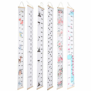 Kid Boy Girls Growth Chart Height Measurement Wall Hanging Ruler Room Decor Gift