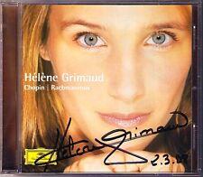 Helene GRIMAUD Signiert CHOPIN RACHMANINOV Piano Sonata 2 Autogramm Autograph CD