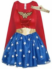 Adult DC Comics Red Wonder Woman Fancy Dress Costume Superhero - Various Sizes