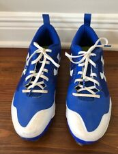 UNDER ARMOUR BASEBALL SHOES MEN SIZE 12 ATHLETIC ROYAL BLUE CLEATS METAL