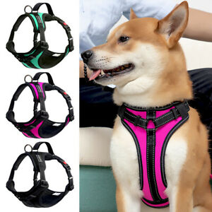 Reflective No Pull Dog Harness Vest with Handle Adjustable Reflective Breathable