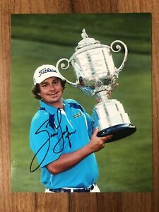 JASON DUFNER GOLF PGA MASTERS THE OPEN HAND SIGNED AUTHENTIC 10x8 PHOTO COA