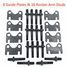 Sbc Small Block Chevy 400 350 Push Rod Guide Plates 38 Rocker Arm Studs Kit