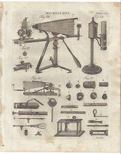 1798 MICROSCOPE lucernal stage ARGAND LAMP apparatus SCIENTIFIC INSTRUMENT print