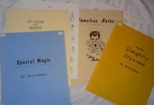 JERRY ANDRUS 4 LECTURE NOTES LOT CARD COIN BILL MYLAR JAPAN CLOSE OP OOP