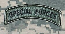 Special Forces Tab US Army ACU Patch w/ Hook Fastener Backing Free Ship to US!