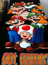 Nintendo Super Mario LUIGI Black Beach Towel Bath Towel 100% Cotton 71cm*147cm