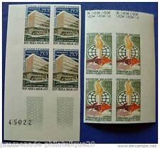 MADAGASCAR timbre-stamp Yvert et Tellier n°393 et 394 non dentelés-Bloc de 4-n**