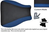 D BLUE & BLACK CUSTOM 99-07 FITS SUZUKI HAYABUSA GSX 1300 LEATHER SEAT COVER