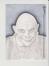 Adams Family Uncle Fester Aceo Sketch Card --- Original Clinton Yeager Art