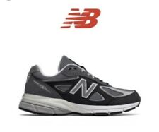 $199 New Balance 990 Boys' Grade School Grey/Black KJ990CGG Size 7