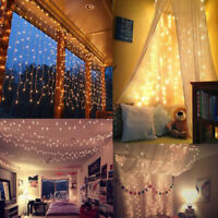 3M/6M 300/600 LED Christmas xmas String Fairy Wedding Curtain Light Party Decor