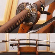 Handmade Japanese Samurai Katana Sword Managese Steel Full Tang Blade Cut Bamboo