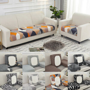 1/2/3 Seaters Slipcovers Spandex Sofa Seat Cushion Covers for Living Room Decor