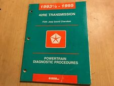 CHRYSLER JEEP GRAND CHEROKEE 42RE TRANSMISSION DIAGNOSTIC PROCEDURE MANUAL 93-95