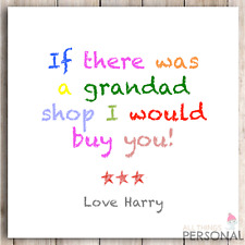 Personalised Grandad Grandpa Christmas Card Birthday Father's Fathers Day Card