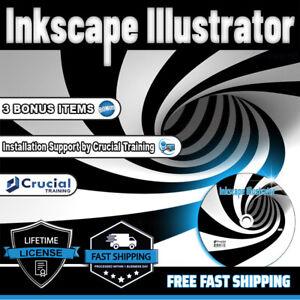 Inkscape Illustrator Graphic Design Software Convert & Save SVG, EPS, DXF, PNG