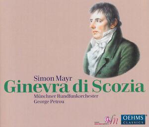 SIMON MAYR: GINEVRA DI SCOZIA Papatanasiu, Hinterdobler, Petrou, 3 CDs, wie neu