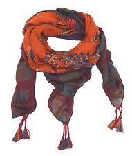 Dreieckstuch bordeaux orange türkis Ella Jonte breites Fashion Tuch Ethno Ibiza