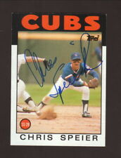 Chris Speier--Autographed 1986 Topps Baseball Card--Chicago Cubs