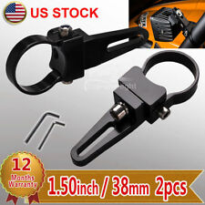 "2X 1.5"" 38mm Bull Bar Roll Cage Tube Mount Brackets Clamp LED Light HID Offroad"
