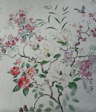 "Sanderson Tessuto per Tende ""MAGNOLIA & Blossom' 3.2 METRI Blossom/Leaf-Cotone"