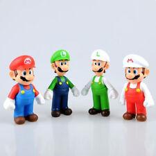 "4Pcs Lot Toys Super Mario Bros Mario And Luigi Figure PVC Action  Toy  5"" inch"