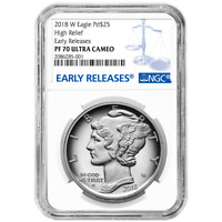 2018-W Proof $25 American Palladium Eagle .9995 1 oz NGC PF70UC Blue ER Label
