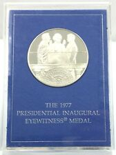 1977 Presidential Inaugural Eyewitness Metal With Stand COA W/box