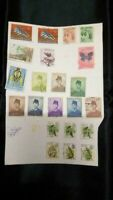STAMP COLLECTION  ON  PAGE  - Great Mix of issues.(m)