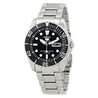 SEIKO 5 Submariner SNZF17 SNZF17K1 Black Dial Stainless Steel Automatic Watch