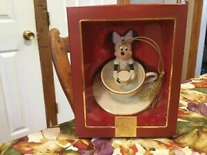 Lenox Christmas Ornament A Ride With Minnie Mouse In Box Minnie In Teacup