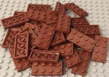 Lego X75 Pieces New Bulk Reddish Brown 2x4 Plate Parts Lot