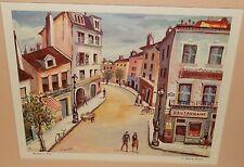 """Joseph Anthony Buzzelli """"Montmartre, Paris"""" color lithograph"""