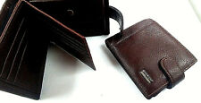 Mens Luxury Soft Quality Leather Wallet Credit Card Holder Coins uk stock