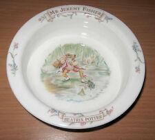 """Beatrix Potter Royal Albert Mr. Jeremy Fisher Frog 4"""" Rimmed Bowl Porringer"""