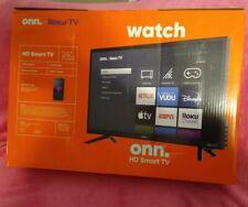 "onn. 24"" Class 720P HD LED Roku Smart TV (100012590) Black"