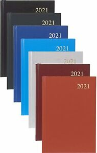 A5 Week to View 2021 Diary Assorted Colour Hardback Casebound