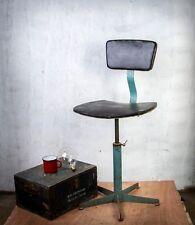 70s Drehstuhl Stuhl Arbeitsstuhl Architekt Werkstatt Büro Hocker Industrie Loft