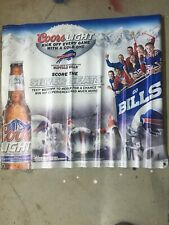Coors Light Buffalo Bills Score The Silver Seat Sign Ad Used 33.5�x30�