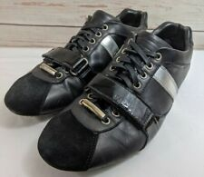 Christian Dior Homme Black Leather Lace-Up Sneakers Shoes Men's EUR 41 / US 8