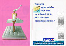 PUBLICITE ADVERTISING 104 1995  LITERIE BULTEX  matelas ( 2p)