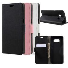 Wallet Cover für Samsung Galaxy S8 Handyhülle Tasche Etui Case KUNSTLEDER Buch