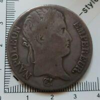 G03401 pièce de monnaie argent 5 francs napoléon 1813 I Limoges