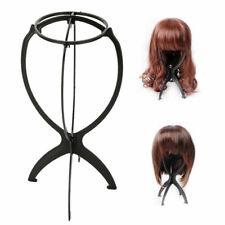 More details for black wig display stand mannequin dummy head hat cap shop holder storage folding