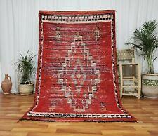 Authentic Moroccan reversible Handmade Carpet 5'x8' Bohemian Nomad vintage Rug
