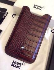 MONTBLANC *MST* iPhone Kroko braun Leder Hülle Case SmartPhone NP:200€ -105