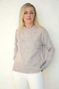 New Womens Ex Oasis Lilac&Pink Mix Knit Crew Neck Long Sleeve Jumper Size S--XL