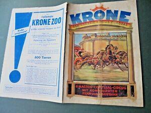 1932c. programme CIRCUS KRONE cirque circo programm program programma programa