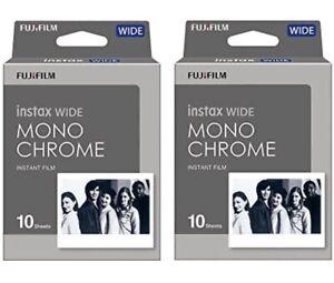 Fujifilm Instant Film - 2 Pack Bundle Set . InstaX Wide Monochrome FREE SHIPPING